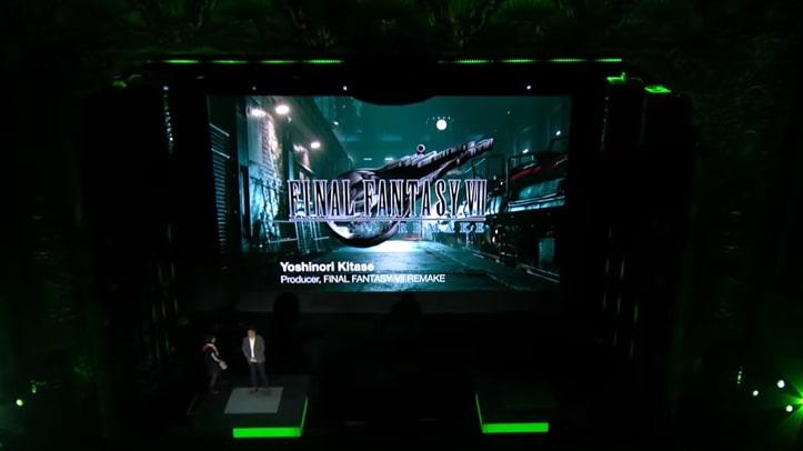 E3のFF7リメイク会場の画像