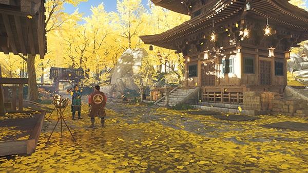 ゴーストオブツシマの黄金寺の風景