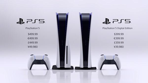 PS5の本体画像
