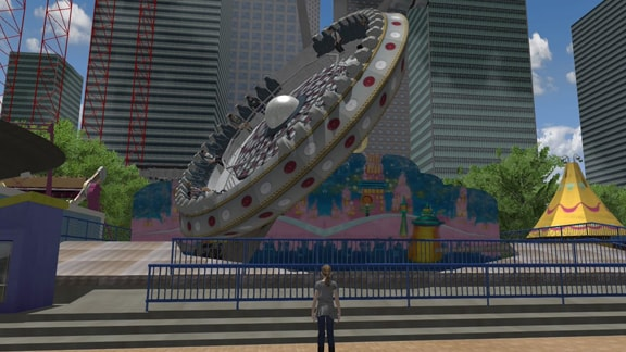ローラーコースタードリームズの遊園地の画像