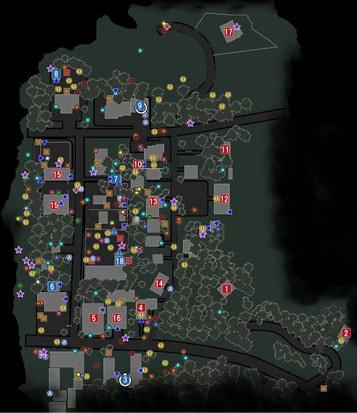 サイコブレイク2の住宅街のマップ