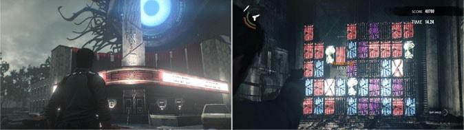 サイコブレイク2の建物画像やミニゲームシーン